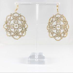 Simply Vera by Vera Wang Crystal & Gold Earrings